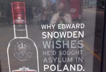 Edward Snowden, subiectul unei campanii care promoveaza o marca de vodka poloneza in America