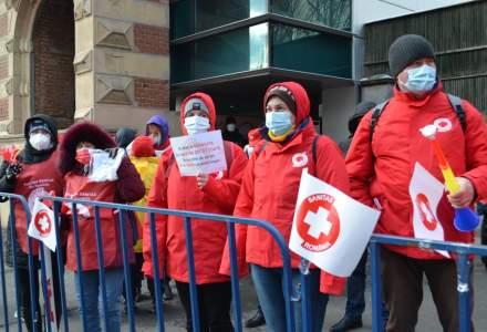 Sindicaliștii de la Sanitas vor protesta în fața Ministerului Finanțelor