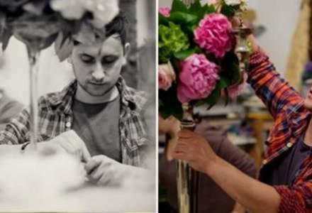 La 12 ani lucra intr-o sera. Acum conduce o afacere cu aranjamente florale care se dubleaza anual
