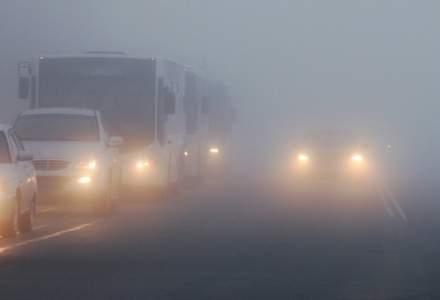 Poliția Română: Se circulă în condiții de ceață în mai multe județe