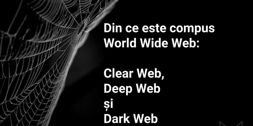 Clear Web, Deep Web, Dark Web - din ce este compus World Wide Web