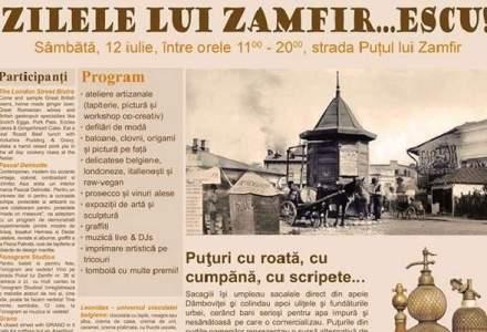Zilele lui Zamfirescu: o strada din centrul Bucurestiului, deschisa pietonilor pentru balci ca pe vremuri