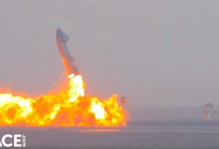 Un prototip al unei rachete SpaceX a explodat la sol la câteva minute după aterizare