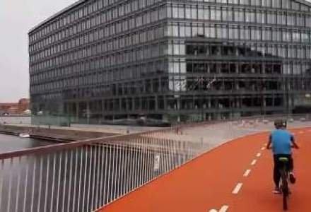 Copenhaga are un pod nou de 220 metri pentru biciclete