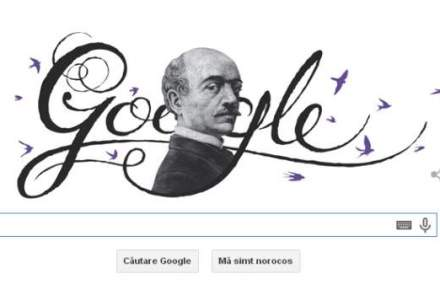 Google sarbatoreste 193 de ani de la nasterea lui Vasile Alecsandri printr-un logo special