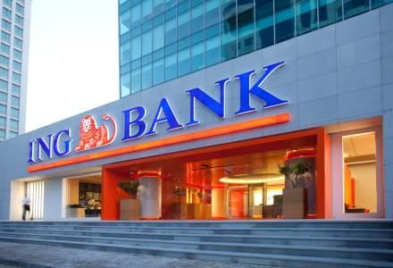 ING Bank anunță o scădere puternică a profitului, dar crește pe credite și rămâne pe locul 4 în clasamentul băncilor din România
