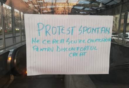 Circulație întreruptă la metrou: sindicaliștii protestează