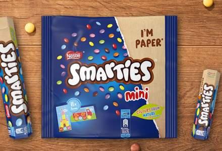 Nestlé va folosi doar hârtie reciclabilă pentru ambalajele brandului Smarties