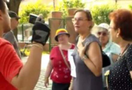 VIDEO Maria Grapini, agresiva cu jurnalistii in timpul unei actiuni pro-Antena 3 din Timisoara