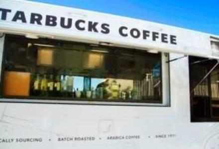 Romanii ar savura ideea: Starbucks introduce camioane mobile in campusuri