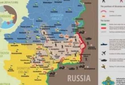 Penurie: Orasul rebel Donetk sufera de foame si de sete. Stadionul echipei Sahtior, bombardat