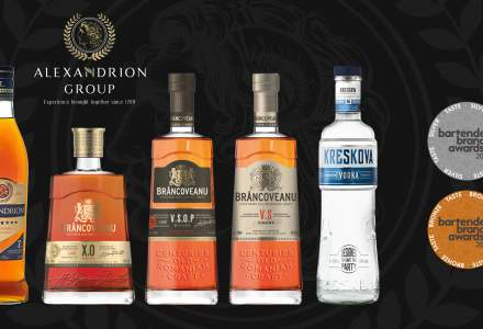 (P) Brâncoveanu Vinars, Alexandrion şi Kreskova Vodka au cucerit medalii pentru calitatea gustului la Bartenders' Brand Awards 2021