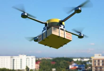Au început testările: dronele, pe post de livratori de pizza