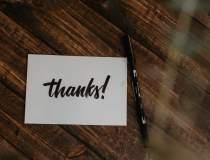 """De ce să nu scrii """"mulțumesc""""..."""