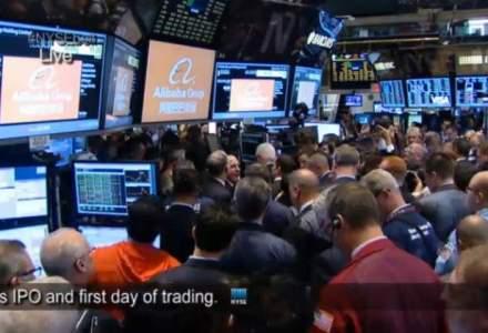 Alibaba a obtinut o suma record dupa listarea din New York: 21,8 mld. de dolari