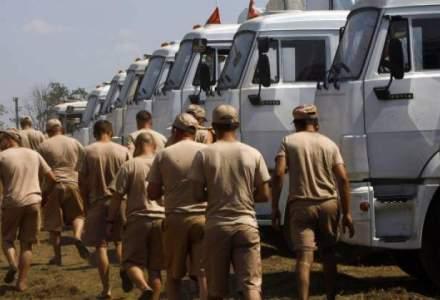 Un convoi umanitar german se indreapta spre estul Ucrainei