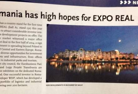 Expo Real 2014: Romania, sperante mari la targ. Pentru prima oara avem un stand de tara. Ce proiecte promoveaza PMB