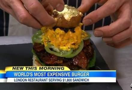 Cel mai scump burger din lume contine foita de aur si este o bomba calorica. Cat ai plati pentru el?