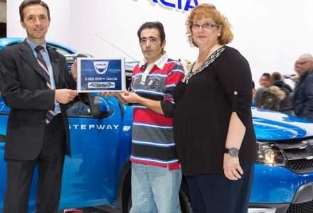 Dacia a vandut in octombrie exemplarul cu numarul 3 MIL.