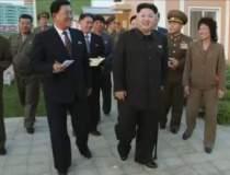 Kim Jong-un, in public...