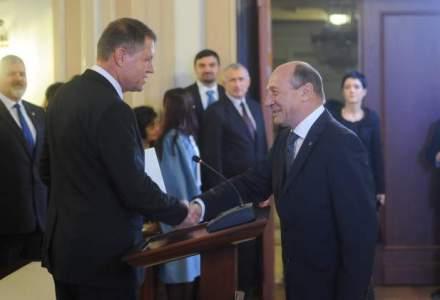 Klaus Iohannis, de fata cu Basescu: Vreau sa reconectez presedintele Romaniei la Constitutie