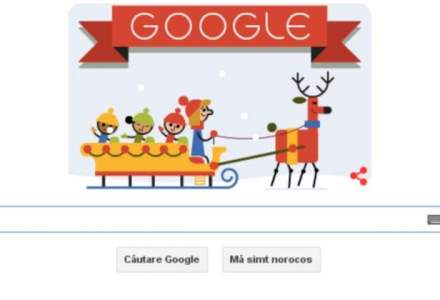 Logo-ul Google, transformat in urare de sarbatori cu ocazia Craciunului