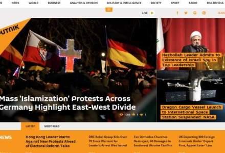 Grupul de media rus Sputnik vrea sa deschida birouri la Bucuresti si Chisinau