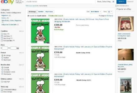 Numarul din 14 ianuarie al Charlie Hebdo se vinde cu SUTE de euro pe eBay