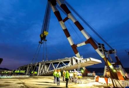 GSP participa la ridicarea celui mai mare pod rutier suspendat din lume