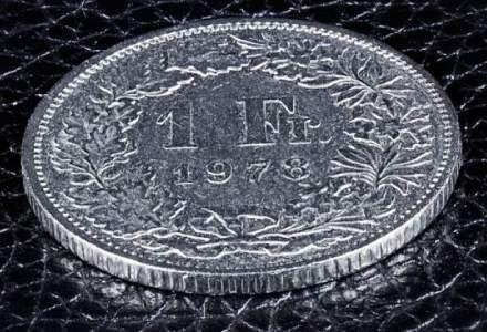 Cursul BNR pentru francul elvetian a scazut pentru a patra zi consecutiv, la 4,2748 lei