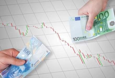 Francul elvetian a pierdut inca 3 bani: cursul oficial de miercuri