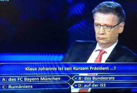 """Klaus Iohannis, subiect de intrebare la emisiunea """"Vrei sa fii milionar?"""" din Germania"""