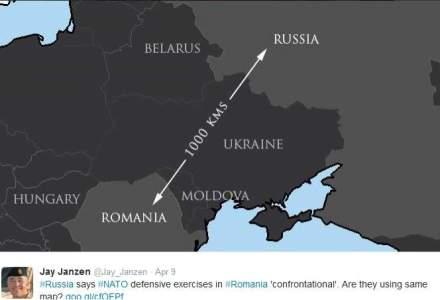 Un purtator de cuvant NATO da lectii de geografie pe Twitter Rusiei
