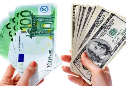 Euro si dolarul se intrec in cresteri: la cat a ajuns cursul valutar