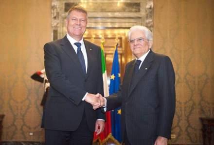 Presedintele Italiei, catre Iohannis: A venit momentul ca Romania sa fie parte a Schengen