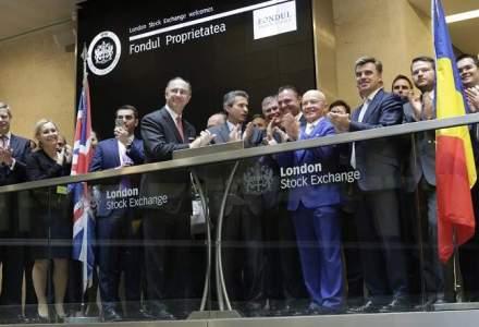 Fondul Proprietatea s-a listat la Londra. Tranzactii de 9 mil. $ in deschidere