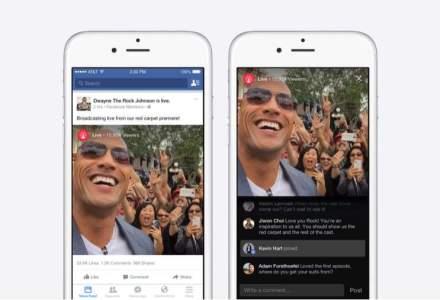 Facebook lanseaza un serviciu video live pentru celebritati