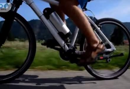 go-e ONwheel transforma o bicicleta normala intr-o bicicleta electrica