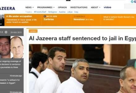 """Trei jurnalisti de la Al Jazeera, condamnati la inchisoare in Egipt pentru """"difuzare de stiri false"""""""
