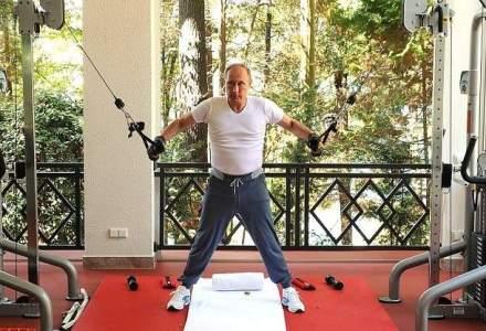 Putin apare in imagini facand exercitii la sala de fitness, pe fondul scaderii cotei de popularitate