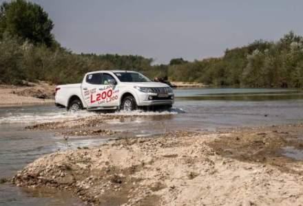 Test cu noul Mitsubishi L200 la balastiera Sirna
