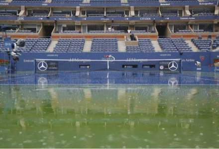 Semifinala Simonei Halep de la US Open, amanata din cauza ploii