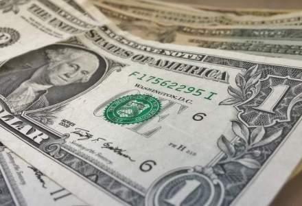 Dolarul isi continua aprecierea: BNR anunta o referinta mai mare cu 1%