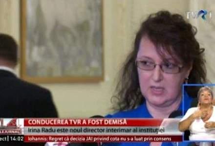 Irina Radu este sef interimar al TVR, inlocuindu-l pe Stelian Tanase