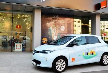 Patru masini electrice au ajuns in flota Orange Romania