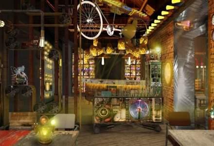 Un absolvent de ASE vinde atmosfera SF: el a creat un pub scos din povestile lui Jules Verne