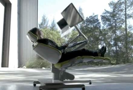 Cum arata statia de lucru de 6.000 de dolari la care poti lucra stand intins