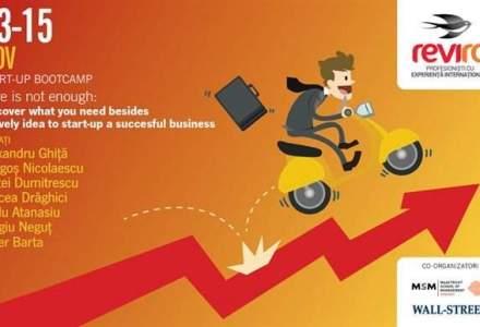 Reviro organizeaza un Start-up Bootcamp pentru viitorii antreprenori
