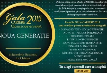 """(P) Gala CARIERE, Editia a III-a, 2015 """"Oameni care ne inspira. Noua generatie"""""""