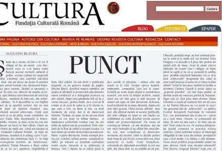 Buzura: Revista Cultura se inchide. Noua, romanilor, ne reusesc bine inceputurile si inmormantarile